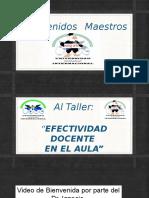 Taller - Efectividad Docente en El Aula Sin Videos