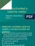 Productividad y salarios reales