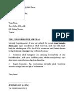 Surat x Hadir Sekolah