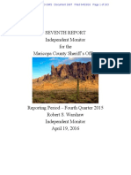 Melendres 1667 Monitor Seventh Report (2015 Fourth Quarter)