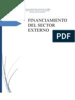 Financiamiento Del Sector Externo