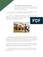 Generalidades de La Inspección de Obras Civiles