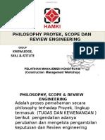 1. Philosophy Proyek, Scope