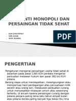 Anti Monopoli Dan Persaingan Tidak Sehat.pptx Juju Juhaeriyah 2