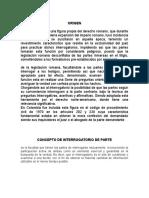 INTERROGATORIO DE PARTE, MATERIAL DE PROBATORIO GENERAL