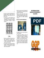 Triptico Almacenamiento de Productos Quimicos