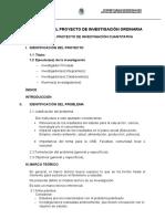Estructuras de Los Proyectos de Investigación Docente 2016-2