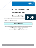 FM Global Exam Paper Jan 14 Final