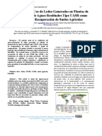 Validación de Uso de Lodos Generados en Plantas de Tratamiento de Aguas Residuales Tipo UASB como Insumo en Recuperación de Suelos Agrícolas