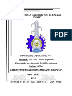 Informe Laboratorio de Ingeniera Mecanica I