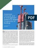 Advance formwork management system