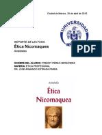 Reporte de Etica Nicomaquea