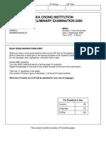 HCI GP Prelim 09 Compre Question Booklet Final