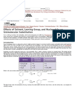 Effects of Solvent, Leaving Group, And Nucleophile on Unimolecular Substitution - Chemwiki