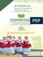 Brosur Pondok Pesantren Putri Darunnajah 9 Al Hasanah Pamulang Tangerang Selatan Banten