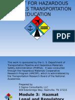 Toolkit for Hazardous Materialas Transportation Education