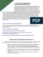 Memo of Law DUNS - DBA - CRIS - USCC.docx