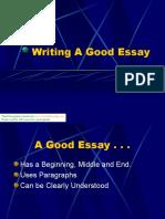 Writing a Good Essay