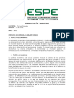 Impacto de Variables Del Entorno Económico del Ecuador