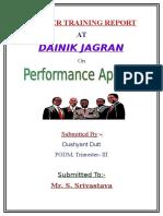 43358344 Project on Dainik Jagran Dushyant Dutt