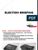 Election - VCM and ELection day