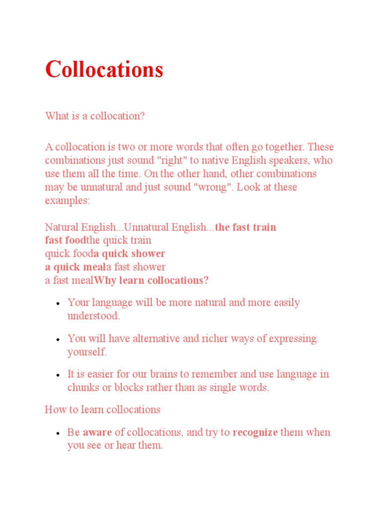 Collocation S Idiom Adjective