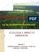 CLASE 1. Ecologia y ciclo hidrologico del agua