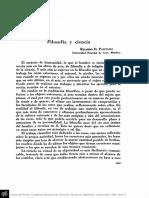 Filosofia y Ciencia-ricardo Pantano