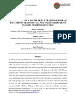 Examination of Social Skills