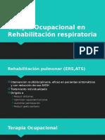 Terapia ocupacional Fisio Pulmonar