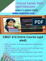 CMGT 410 Course Career Path Begins Cmgt410dotcom