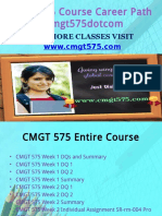 CMGT 575 Course Career Path Begins Cmgt575dotcom
