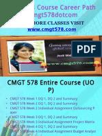 CMGT 578 Course Career Path Begins Cmgt578dotcom