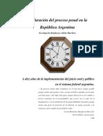 Plazos de Duracion Del Proceso Penal Republica Argentina