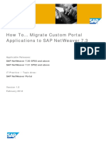 How to Guide- Migrate custome portal apps