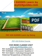 PSY 410 GUIDES Learn by Doing- Psy410guides.com