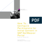 How to Configure Permissions for Initial Content in SAP NetWeaver Portal (SAP NetWeaver 7.3)