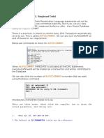 Auto commit in SQL