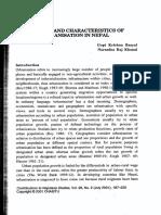 Process and Characteristics of Urbanization in Nepal