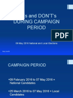 DO's and DON'Ts (Campaign)