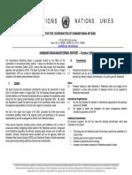 Humanitarian Monitoring Report October03