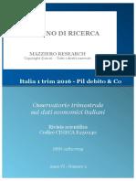 Italia 1 Trim 2016 - Pil Debito & Co