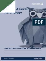 Selected Studies Summaries