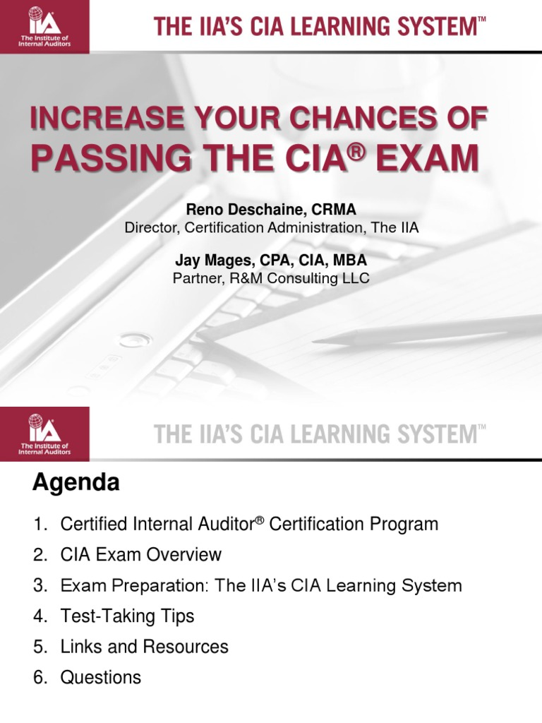 Cia Learning System Internal Audit Professional Certification