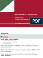 Improvements in Alarm Analysis - Honeywell User Group - Sep 2012