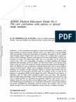 AMEE Guide No. 5 the Core Curriculum With Options or Special Study Modules