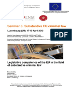 1.1 EU Substantive Criminal Law EU En