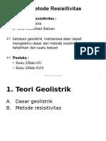 8. Metode Resistivitas - Oen 2016