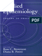Brownson - Applied Epidemiology - Theory to Practice