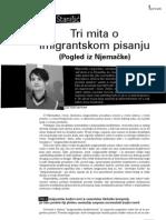 Sasa Stanisic - Tri mita o imigrantskoj knjizevnosti
